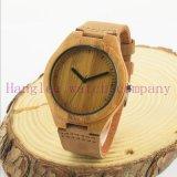 高精度の安価な木製の水晶腕時計(Ja15002)