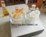 Vaso de vidrio perfumado de lujo Vela exquisita con tapa igualada