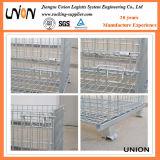 Jaula plegable modificada para requisitos particulares del almacenaje del acoplamiento de alambre