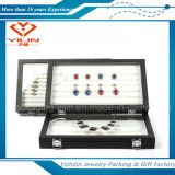 Jewelry di lusso Display Tray per Earring Ring Pendant con Transparent Cover