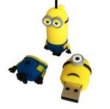 공장 가격 2GB/4GB/16GB/32GB /64GB PVC 선물 장난감을%s 귀여운 앞잡이 USB 섬광 드라이브