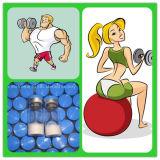 Der Phiolen Hg-Gh10 des /Kit-(100iu) Wachstum-Peptid-Hormon Muskel-Gebäude-10iu/Vial menschliches Somatotropin Steroid