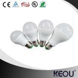 Lámpara baja plástica de aluminio del material E27 B22 A60 9W del precio competitivo