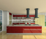 Moderner Entwurfs-hohes Glanz-Haustier überzogenes MDF-Blatt für Küche-Schranktür
