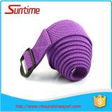 Gymnastique colorée d'exercice de forme physique de ceinture de yoga de courroie de bout droit de yoga