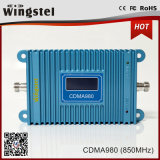 850MHz alto repetidor móvil de la señal del aumento 3G Repeaer 27dBm 2000m2 CDMA980 con el LCD