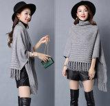 Les femmes façonnent le châle de l'hiver de frange tricoté par nylon visqueux (YKY4529)