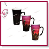 17oz Glossy Black Latte Heat Sensitive Color Changing Mug