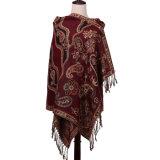 Шаль Pashmina длинней равнины шарфа теплая для цвета зимы красного