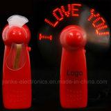 Minihand-LED-heller Ventilator mit Firmenzeichen gedruckt (3509)