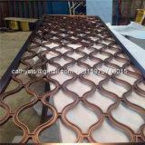 Perforiertes geschnitztes dekoratives Metallaluminiumpanel für Zaun, Bildschirm, Wand, Raum-Teiler, Fassade