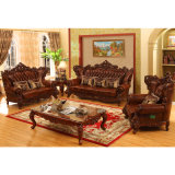 Woonkamer Furniture Set met Wood Leather Sofa (531A)