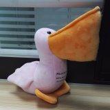Giocattolo del pellicano farcito giocattolo su ordinazione della peluche dell'uccello