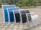 バルコニーのための防水曲がったパソコンの側面の日除けの日曜日雨避難所