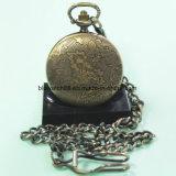 Reloj de bolsillo caliente de la aleación del cuarzo de la venta con los ciervos