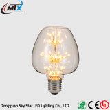 3W de LEIDENE Warme Witte E27 220V Energie van Bollen - lamp van de Gloeidraad van de Gloeilamp van Edison van het Glas van besparingsBollen Retro voor de Decoratie die van het Huis sterrige LEIDENE bollen aansteken