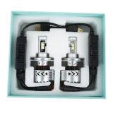 Linterna del coche LED de H4 Hb2 9003 80W 12000lm para el sostenedor ajustable Fanless todo de la 8va viruta de 8g Xhp-50 en bombillas de una de 6500k H/L niebla de la viga LED