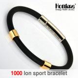 Nuovo braccialetto della gomma di silicone di arrivo con testo personalizzato (20008)