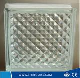 Templado de seguridad transparente patrón de bloques de vidrio para la decoración (GB)