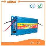 Cargador de batería Suoer inteligente cargador de batería rápido 24V 15A de alta eficiencia (MA-2415A)