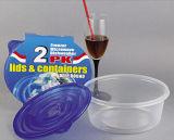 Runder Plastik nimmt Microwavable Nahrungsmittelbehälter 48oz weg