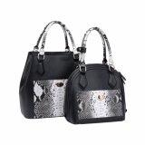 Moda estilo Python Print Shell Shape Women Handbag (MBNO041023)
