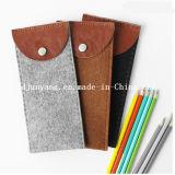 Мешок карандаша войлока превосходного качества Handmade с застежкой -молнией