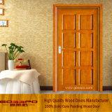 バルコニー(GSP6-016)のためのMDFのベニヤの木のドア
