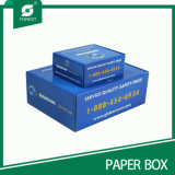 Cartucho de papel de cor azul para envio