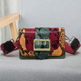 Modedesigner-Marken-Handtaschen-Schlange-Haut-echtes Leder-Schulter-Beutel Emg4776