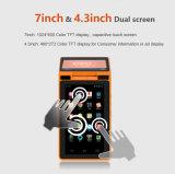 Zkc PC900 3G Dual Screen Android Handheld NFC POS Terminal com impressora Câmera WiFi RFID