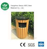 Caixote de lixo composto plástico de madeira para a mobília ao ar livre