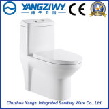 4D en céramique Superbe-Tournent la toilette siamoise de salle de bains de siphon