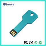 Movimentação colorida relativa à promoção chave de alumínio do flash do USB de Pendirve 8GB 16GB 32GB das varas 2.0 do USB da forma