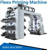 PE van de Folie BOPP van pvc van de hoge snelheid de UVPrijs van de Machine van de Druk van Flexography van de Zak van de Plastic Film van de Kop van het Document van het Etiket