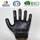 раковина полиэфира 13G с покрынными нитрилом перчатками работы (SL-N111)