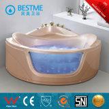 Bañera de interior vendedora superior del masaje del color rosado cristalino (BT-A324)