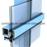 Профиль стены из алюминиевого занавеса для фасада здания из стекла