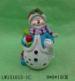 Het Standbeeld van het Beeldje van de Mens van de Sneeuw van Kerstmis voor Ornament