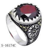 Neue silberner Schmucksache-Ring des Entwurfs-925 mit natürlichem Achat