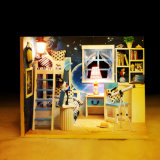 Bambini di legno della Camera di bambola dei nuovi bambini DIY