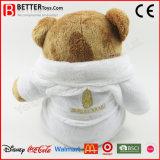Urso feito sob encomenda do brinquedo do luxuoso no Bathrobe