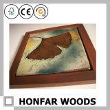Cadre de tableau classique en bois solide de Brown pour la décoration européenne d'hôtel