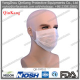 Máscara protetora de papel descartável um respirador ínfimo usado tempo