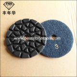 Revestimento de polimento de moagem de piso de diamante flexível seco de metal de resina