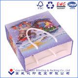 Bolsa de papel de encargo profesional de la Navidad de la fabricación/bolso de compras/bolso del regalo