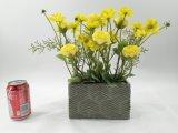 Decoração retangular das flores artificiais da cerâmica