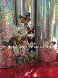 Película rígida del PVC de /Laser del holograma para las decoraciones de la Navidad