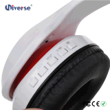 Auriculares estereofónicos de Bluetooth dos fones de ouvido sem fio elegantes coloridos para a música de escuta