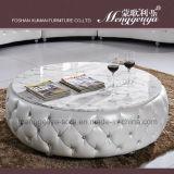Живущий софа неподдельной кожи комнаты с мраморный журнальным столом (893)